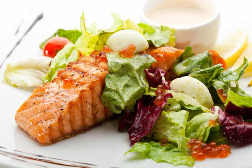 Keto Salmon Steak