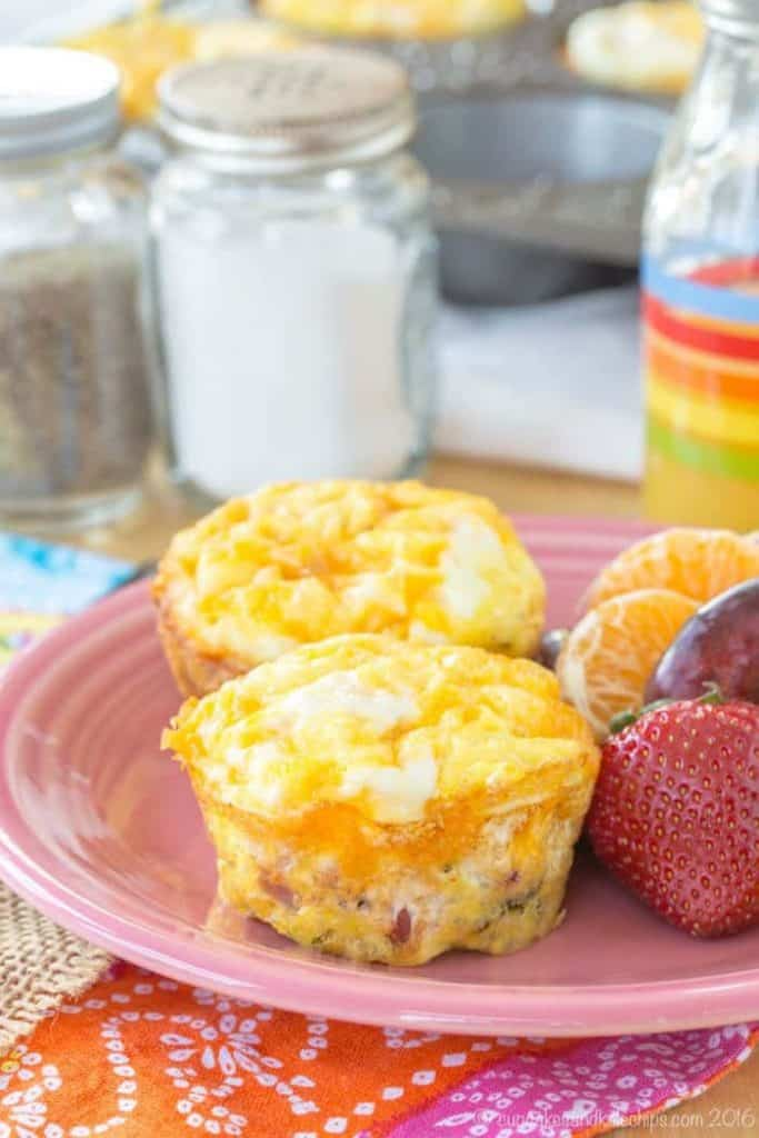 Cheap Keto Broccoli Ham and Cheese Egg Muffin Cups