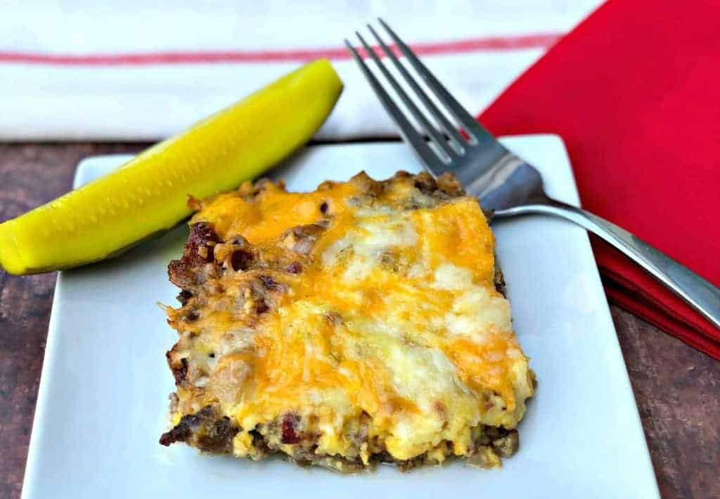 Easy Keto Bacon Cheeseburger Casserole