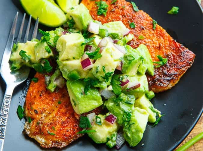Keto Blackened Salmon with Avocado Salsa