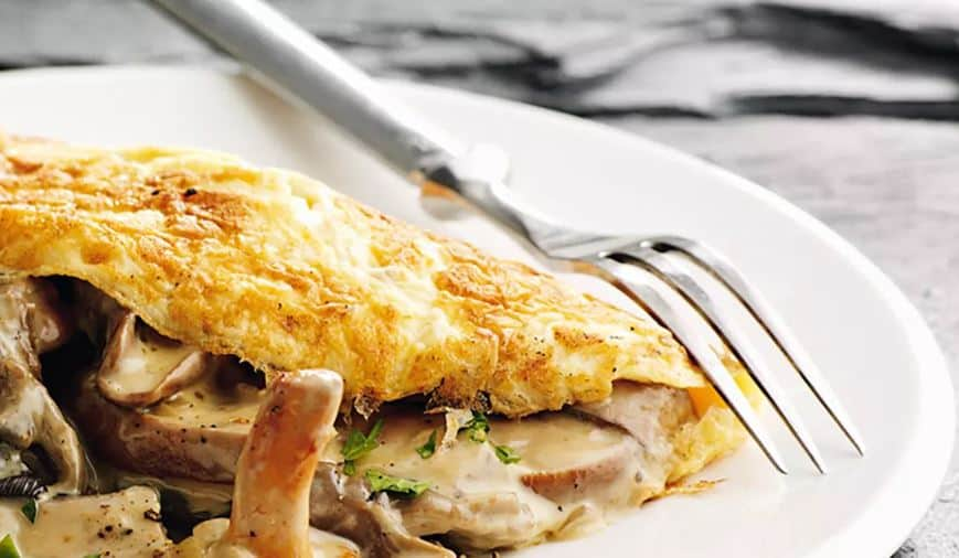 cheap keto mushroom omelet