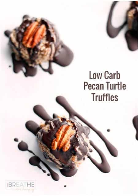 Low Carb Pecan Turtle Truffles