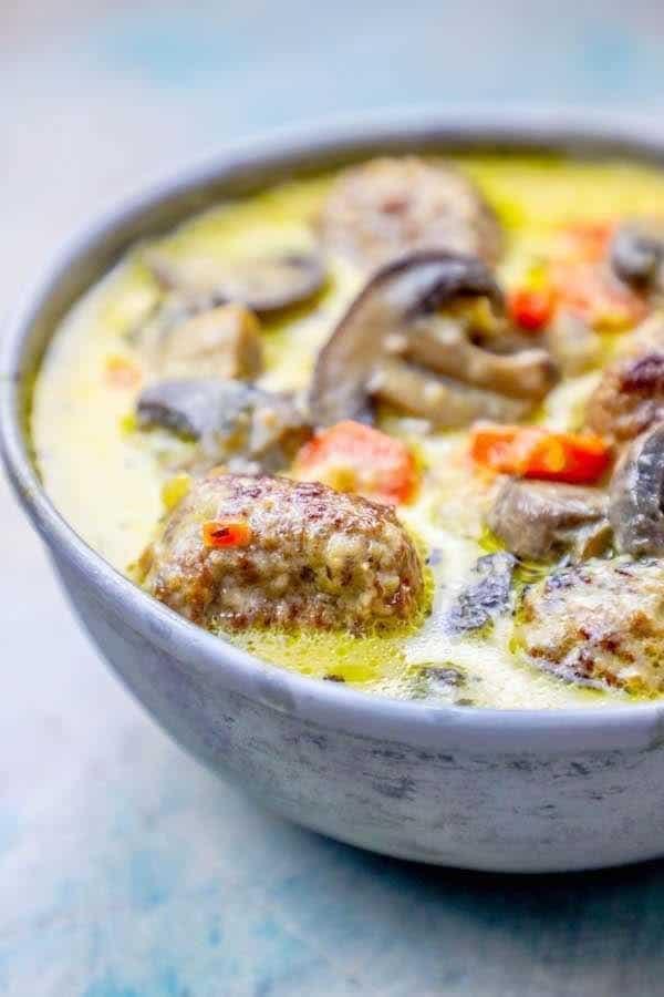 Creamy Meatball Soup Recipe