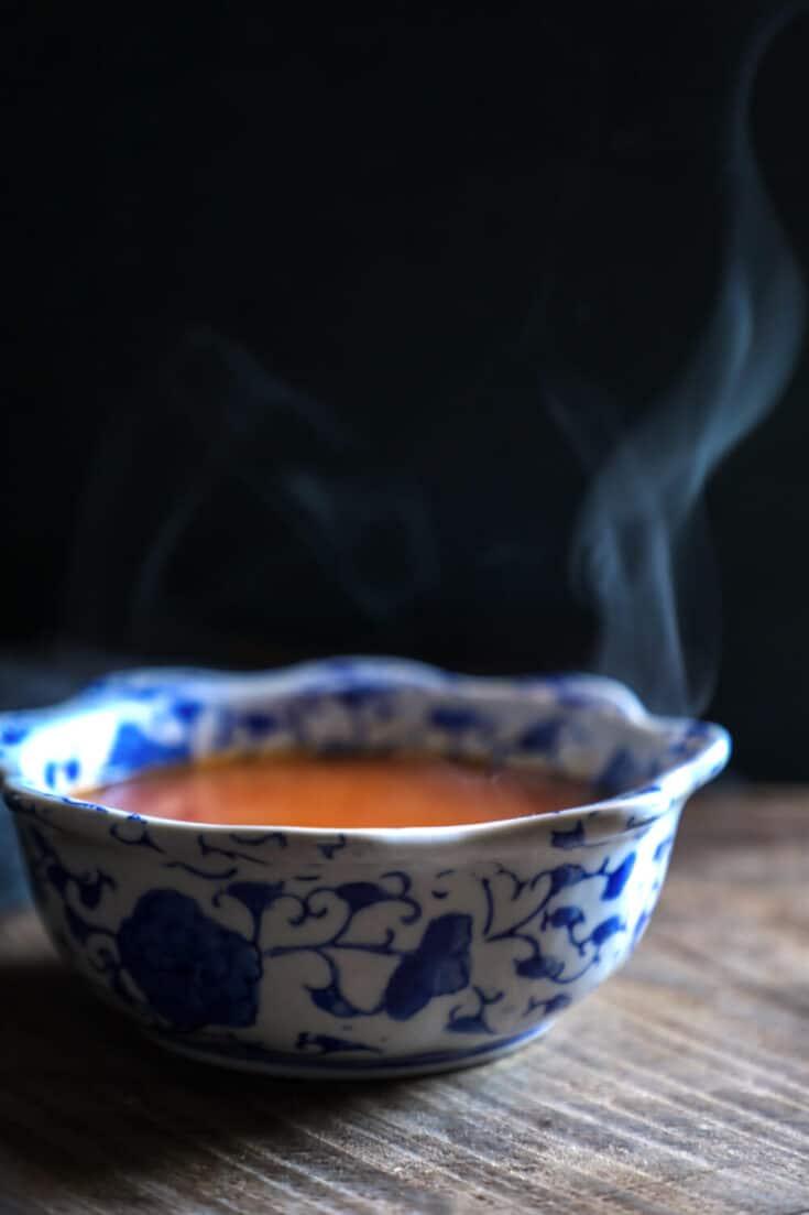 Keto Roasted Tomato & Garlic Soup
