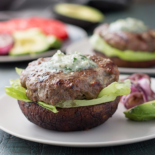 Low Carb Blue Cheese Burgers