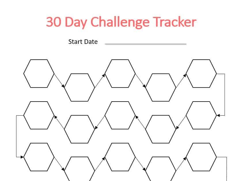 30 Day Challenge Printable